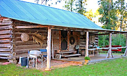 log cabin bed and breakfast in woods