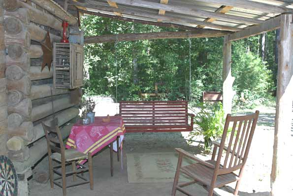 Front porch with swing and rockers for relaxing