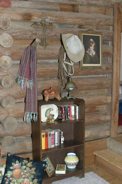 Decorated with antiques and cowboy memorabilia