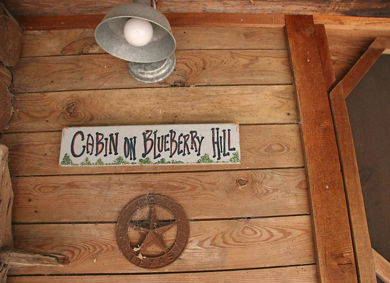 Blueberry Hill sign and Texas star a front entrance